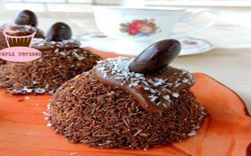 Çikolatalı ve Kadayıflı Pasta Nasıl Yapılır